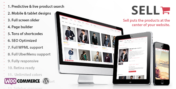 Share theme Sell - WooCommerce Theme tại ThemeForest