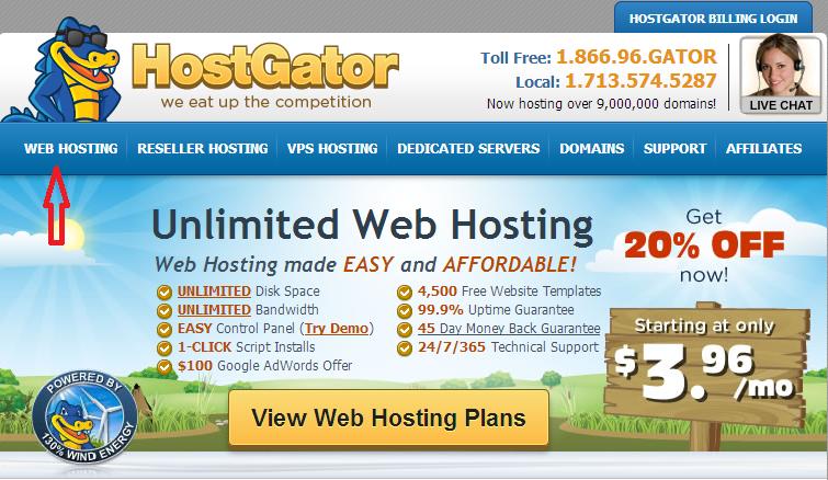 Hướng dẫn đăng ký hosting tại Hostgator thành công 100% tại Việt Nam