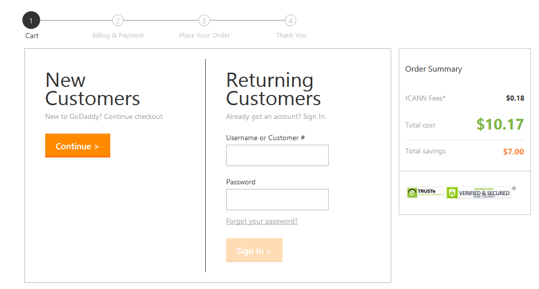Hướng dẫn mua domain (tên miền) trên GoDaddy