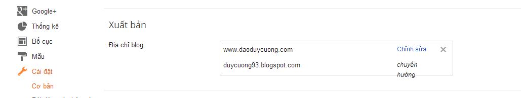 Hướng dẫn trỏ tên miền riêng cho blogspot - blogger