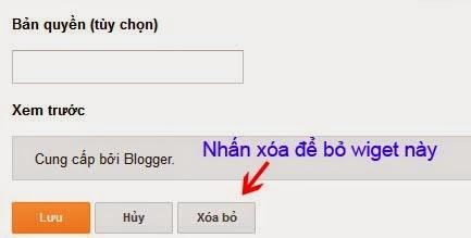 Widget cung cấp bởi blogger