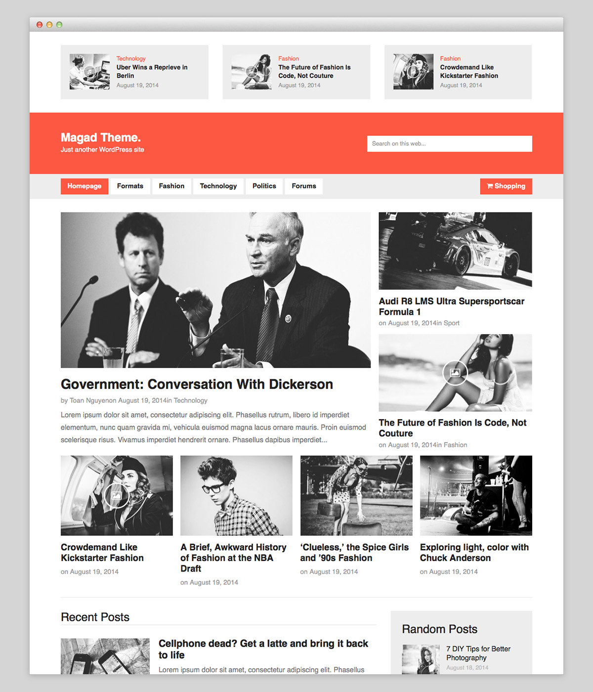 Magad Wordpress Theme