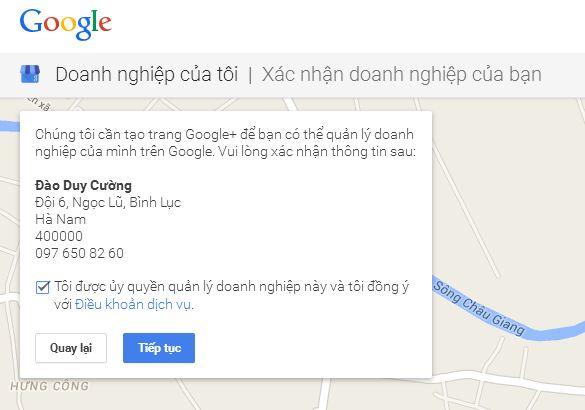 Đăng ký địa chỉ doanh nghiệp lên Google Maps - SEO Local 3