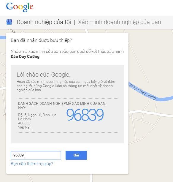 Đăng ký địa chỉ doanh nghiệp trên Google Maps - SEO Local 6