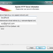 Hướng dẫn cài đặt và cấu hình Appserv 2.6.0