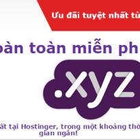 Hostinger miễn phí đăng ký tên miền .XYZ
